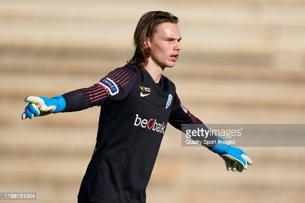 Maarten Vandevoordt of KRC Genk reacts during a friendly match between 1 FC Koeln and KRC Genk on January 10 2020 in La Nucia Spain