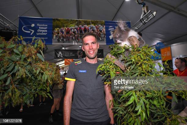Maarten Wynants of Belgium of Team Jumbo-Visma / Koala / during the 21st Santos Tour Down Under 2019 - Team Presentation / Adelaide Tour Village / on...