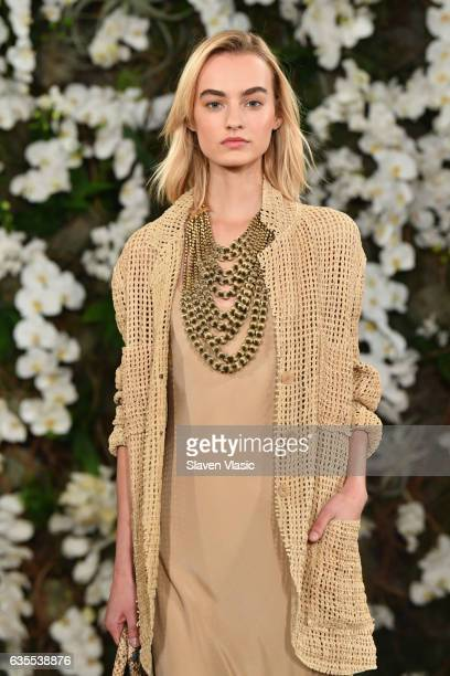 Maartje Verhoef walks the runway for Ralph Lauren collection during New York Fashion Week on February 15 2017 in New York City