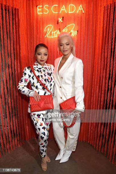 Maasa Ishihara and Rita Ora attend the launch of the ESCADA Heartbag by Rita Ora on March 27 2019 in New York City