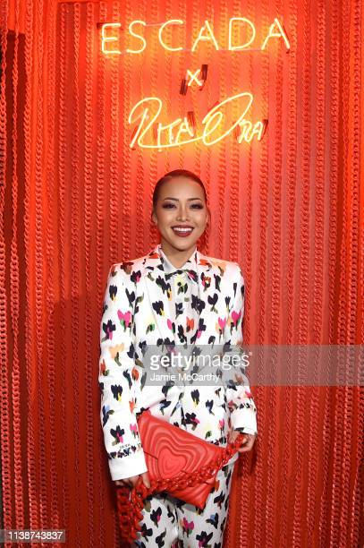 Maasa Ishihara attends the launch of the ESCADA Heartbag by Rita Ora on March 27 2019 in New York City
