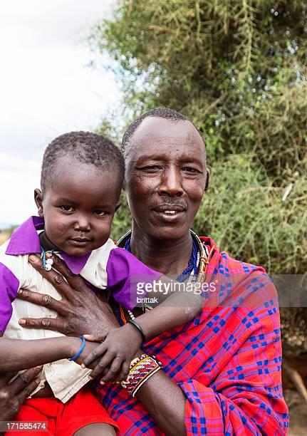 父と息子 Maasai