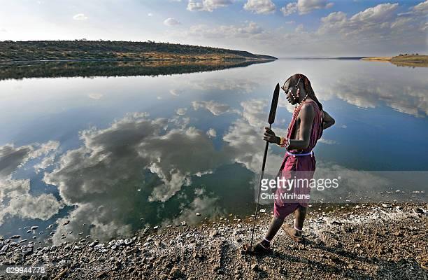 Maasai Warrior Tribesman on Lake Magadi - Kenya
