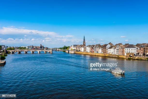 Maastricht Netherlands and Maas River