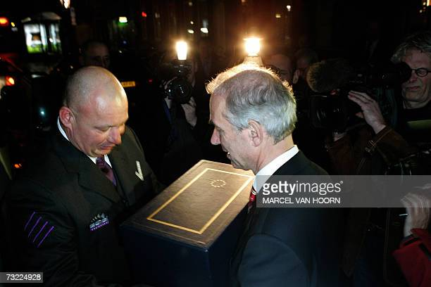 Maastricht Mayor Gerd Leers receives 06 February 2007 a paper version of the Maastricht Treaty almost 15 years after its signing The treaty which is...