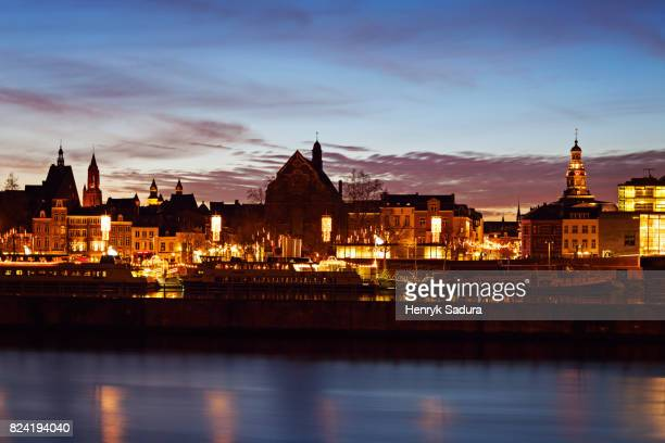 Maastricht skyline across Meuse River