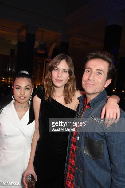 Mabel Alexa Chung and Nick Grimshaw attend the Universal Music BRIT Awards AfterParty 2018 hosted by Soho House and Bacardi at The Ned on February 21...