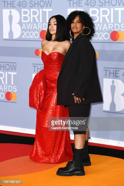 Mabel and Neneh Cherry attend The BRIT Awards 2020 at The O2 Arena on February 18 2020 in London England