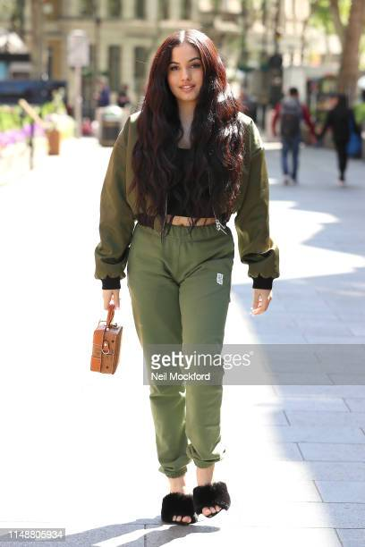 Mabel arrives at Global Radio Studios for Capital Breakfast on May 13 2019 in London England