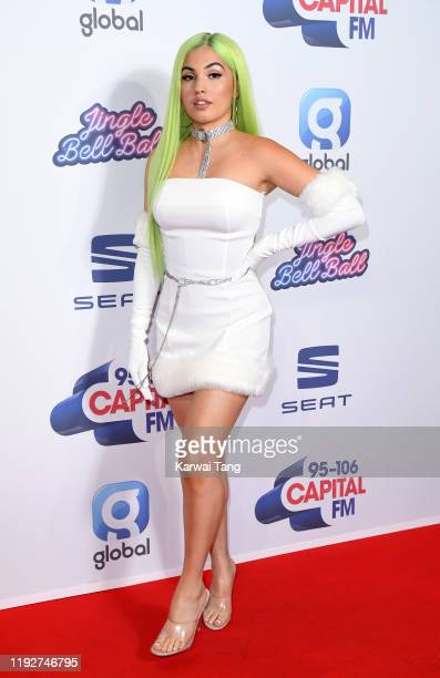 Mabel attends day two of Capital's Jingle Bell Ball 2019 at The O2 Arena on December 08, 2019 in London, England.