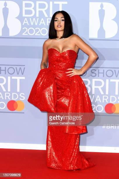 Mabel attends The BRIT Awards 2020 at The O2 Arena on February 18, 2020 in London, England.