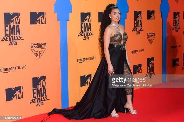 Mabel attends the MTV EMAs 2019 at FIBES Conference and Exhibition Centre on November 03 2019 in Seville Spain
