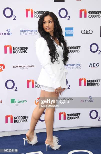 Mabel attends the Nordoff Robbins O2 Silver Clef Awards 2019 at Grosvenor House on July 05 2019 in London England