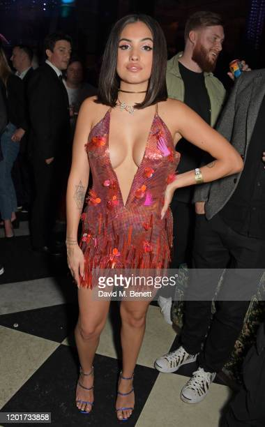 Mabel attends the Universal Music BRIT Awards after-party 2020 hosted by Soho House & PATRON at The Ned on February 18, 2020 in London, England.