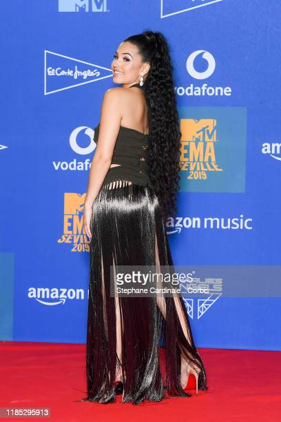 Mabel in the winner room during the MTV EMAs 2019 at FIBES Conference and Exhibition Centre on November 03 2019 in Seville Spain