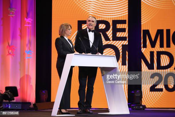 Mabel Mata and Juan Ymedio attend the 63th Ondas Gala Awards 2016 at the FIBES on December 12 2017 in Seville Spain