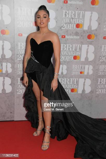 Mabel McVey arrives at The BRIT Awards 2019 held at The O2 Arena on February 20 2019 in London England
