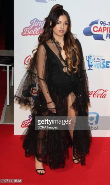 Mabel McVey at Capital's Jingle Bell Ball with CocaCola during day two at The O2 Peninsula Square