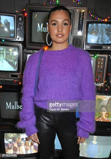 Mabel McVey attends Mulberry's 'It's Not Quite Christmas' party on November 15 2017 in London England