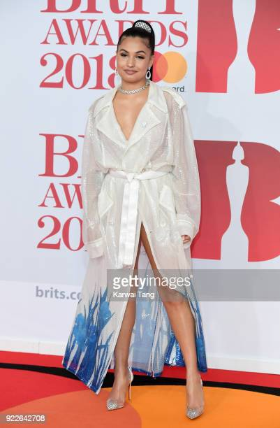 AWARDS 2018 *** Mabel McVey attends The BRIT Awards 2018 held at The O2 Arena on February 21 2018 in London England