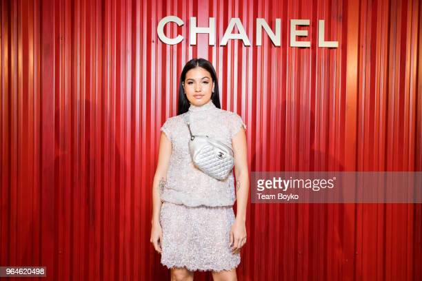 Mabel McVey attends the Chanel Replica Show In Moscow 'Metiers D'Art Paris Hamburg 201718' on May 31 2018 in Moscow Russia