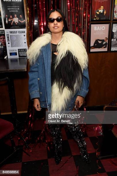Mabel McVey attends the Fashion East London Fashion Week party in association with Bumble at Moth Club on September 17 2017 in London England