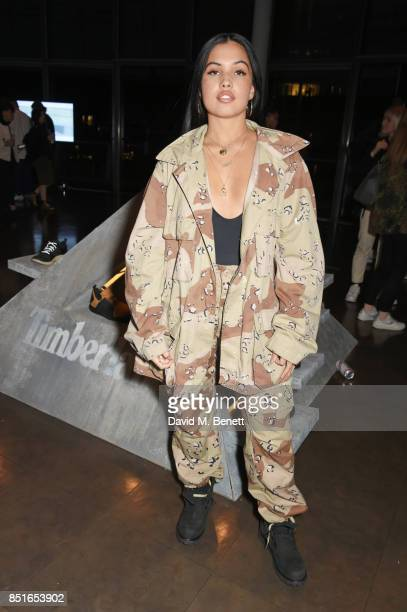 Mabel McVey attends the launch of the Timberland Flyroam sneaker at The Scoop on September 22 2017 in London England