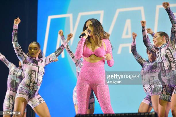 Mabel McVey performs on stage at The O2 Arena on September 17 2019 in London England