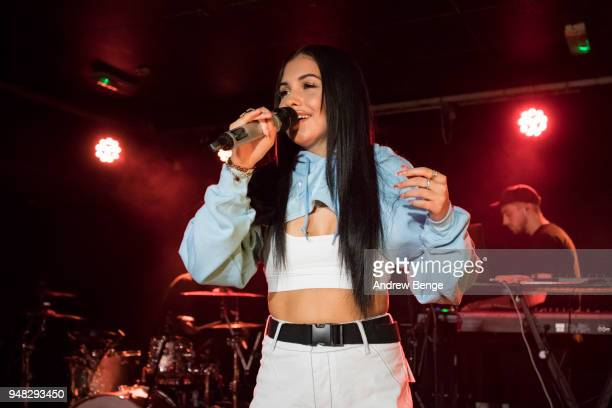 Mabel performs at on April 18 2018 in Leeds United Kingdom