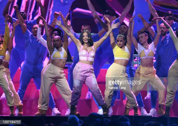 Mabel performs during The BRIT Awards 2020 at The O2 Arena on February 18, 2020 in London, England.