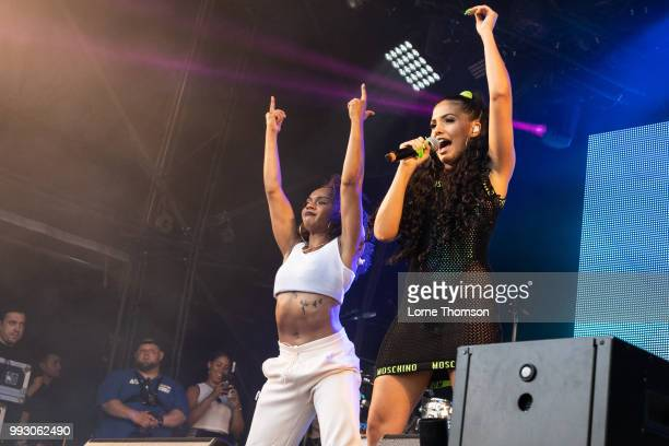 Mabel performs during Wireless Festival 2018 at Finsbury Park on July 6th 2018 in London England