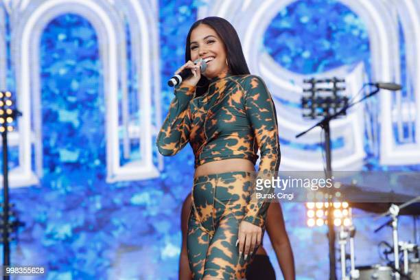 Mabel performs on day 1 of Lovebox festival at Gunnersbury Park on July 13 2018 in London England