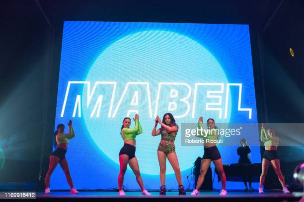 Mabel performs on stage at The SSE Hydro on September 20, 2019 in Glasgow, Scotland.