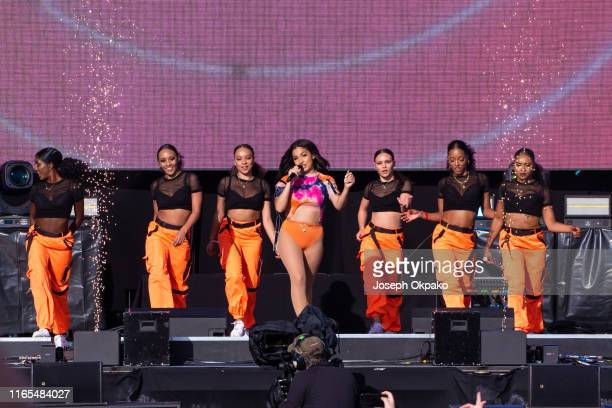 Mabel performs on stage during day 3 of Fusion Festival 2019 on September 01 2019 in Liverpool England