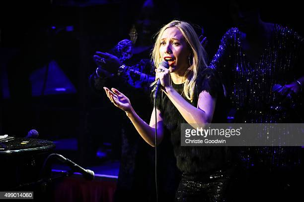 Mabel Ray performs with Jools Holland at the Royal Albert Hall on November 27 2015 in London England