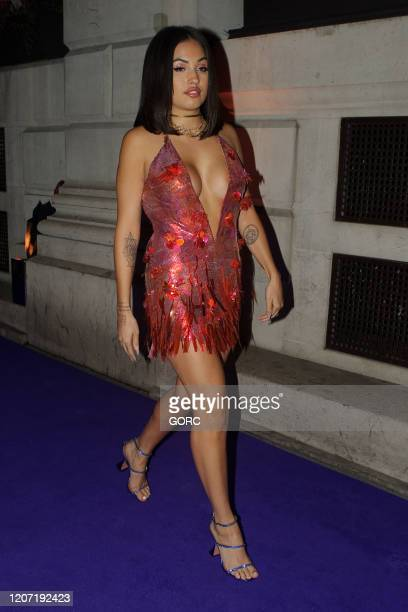 Mabel seen attending the BRIT Awards 2020 Universal afterparty at the Ned hotel on February 18 2020 in London England