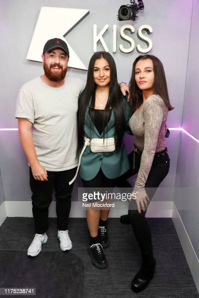 Mabel visits Tom and Daisy on KISS Breakfast at KISS FM UK radio studios on September 17 2019 in London England