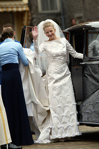 Mabel Wisse Smit Waves After The Civil Ceremony Of Her Wedding With Dutch Prince Johan Friso