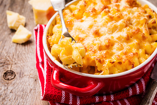 Mac and cheese, american style pasta 871900654