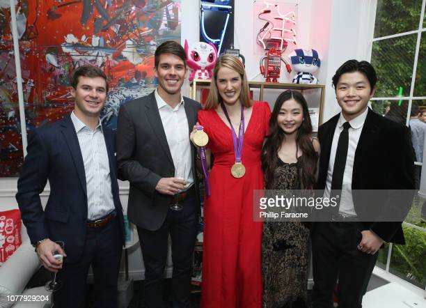 Mac Bohonnon Hayes Johnson Missy Franklin Maia Shibutani and Alex Shibutani attend The 6th Annual 'Gold Meets Golden' Brunch hosted by Nicole Kidman...
