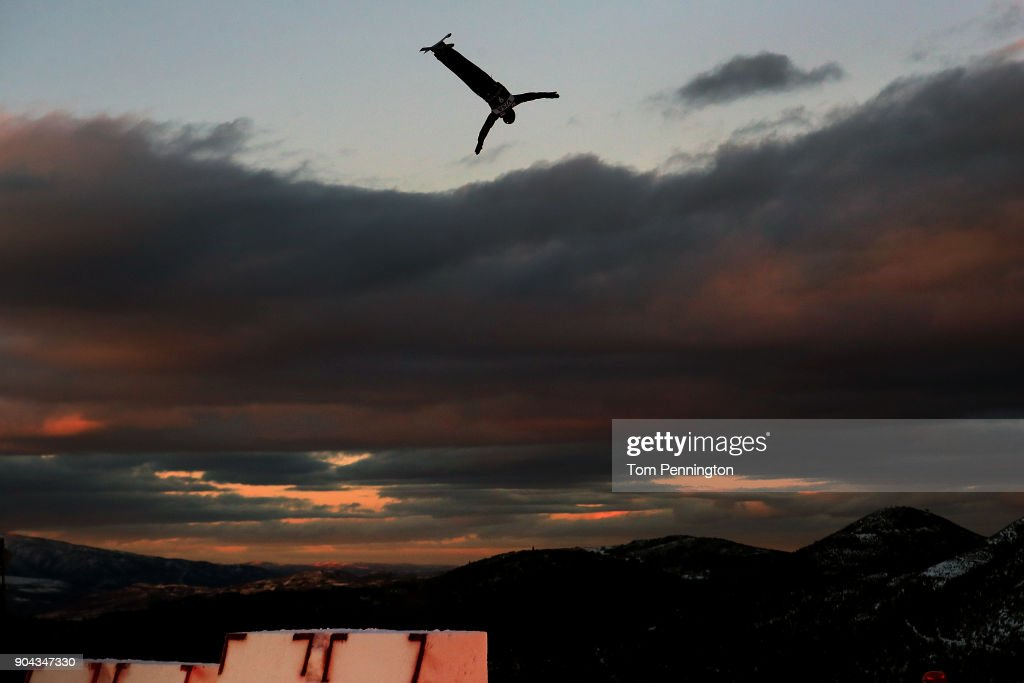 Mac Bohonnon of the United States competes in the Men's Aerials qualifying during the 2018 FIS Freestyle Ski World Cup at Deer Valley Resort on January 12, 2018 in Park City, Utah.