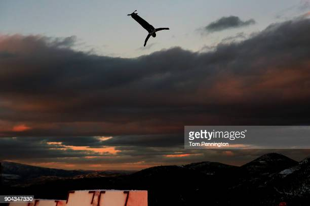 Mac Bohonnon of the United States competes in the Men's Aerials qualifying during the 2018 FIS Freestyle Ski World Cup at Deer Valley Resort on...