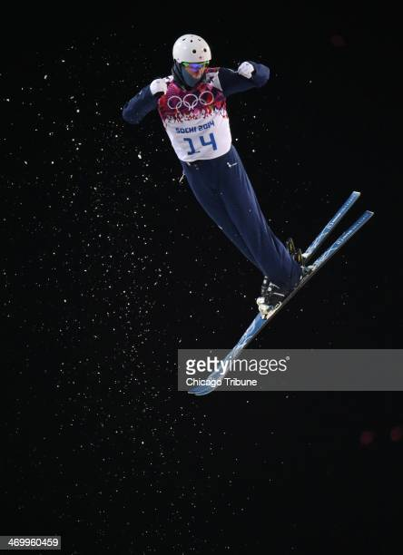 Mac Bohonnon of the USA jumps during the finals of men's aerials at Rosa Khutor Extreme Park during the Winter Olympics in Sochi Russia Monday Feb 17...