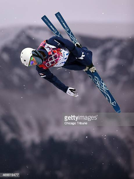 Mac Bohonnon of the USA skis during qualification for men's aerials at Rosa Khutor Extreme Park during the Winter Olympics in Sochi Russia Monday Feb...