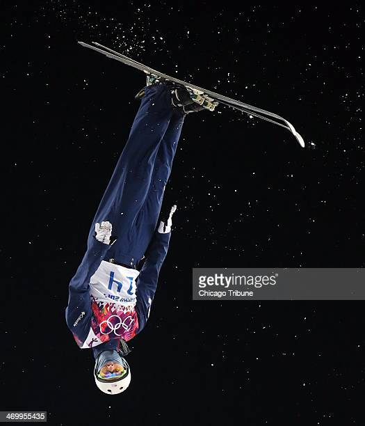 Mac Bohonnon of the USA skis during the finals of men's aerials at Rosa Khutor Extreme Park during the Winter Olympics in Sochi Russia Monday Feb 17...