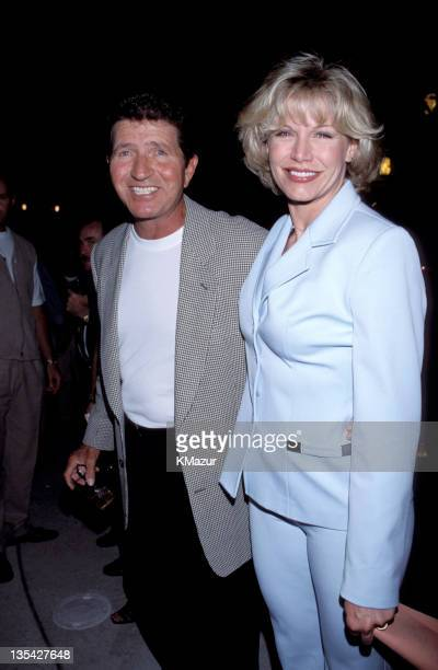 Mac Davis and guest during Frank Sinatra Las Vegas Celebrity Classic 1998 File Photos in Las Vegas Nevada United States