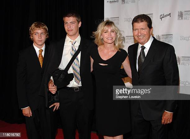 Mac Davis inductee with family during 37th Annual Songwriters Hall of Fame Ceremony Arrivals at Marriott Marquis in New York City New York United...