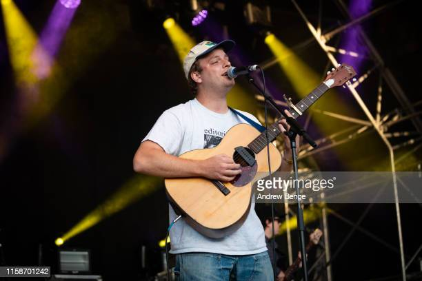 Mac DeMarco performs on stage at The Piece Hall on June 27 2019 in Halifax England