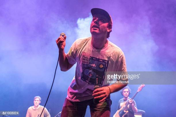 Mac DeMarco performs on stage at Usher Hall on August 30 2017 in Edinburgh Scotland