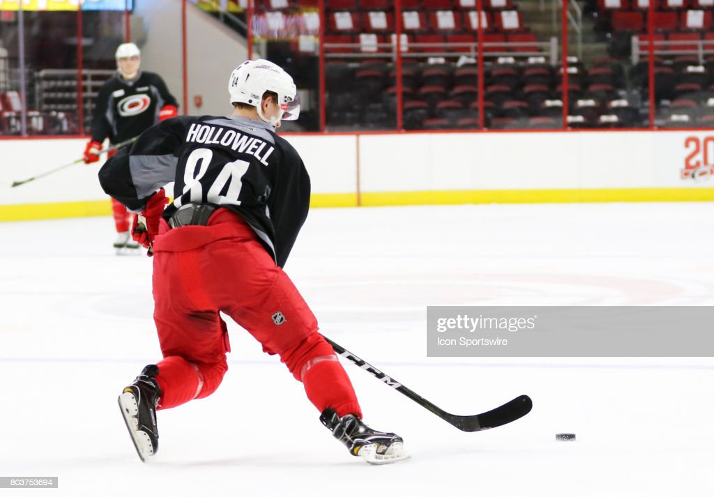 Mac Hollowell (84) during the Carolina Hurricanes Development Camp on June 29, 2017 at the PNC Arena in Raleigh, NC.